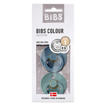 Load image into Gallery viewer, BIBS 2-Pack Colour Pacifier - Petrol & Island Sea