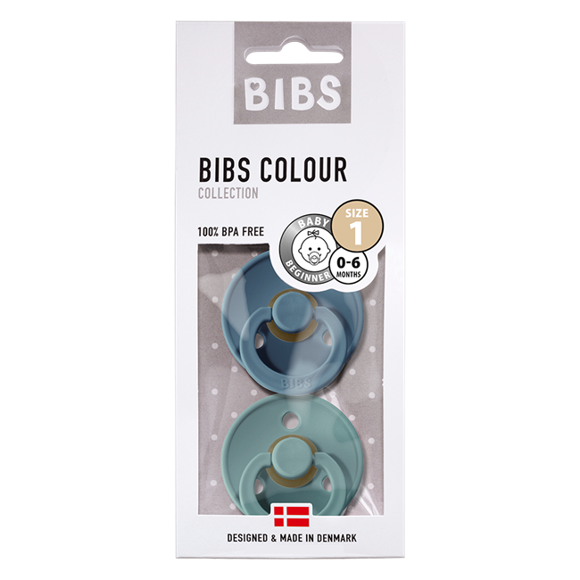 BIBS 2-Pack Colour Pacifier - Petrol & Island Sea