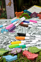 Load image into Gallery viewer, DRAWNBY: Dino World Colouring Mat with Markers