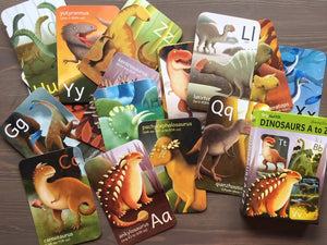 TINY WORLDS Dinosaurs A to Z Cards