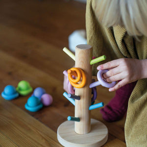 GRIMM'S Sorting Helper Building Rings, Pastel