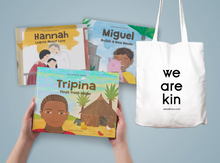 Load image into Gallery viewer, KIN COLLECTIVE The Blessed Series Bundle + We Are Kin Tote Bag