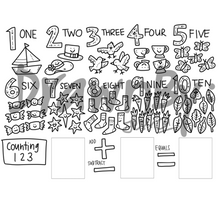 Load image into Gallery viewer, DRAWNBY: Counting 123 Colouring Mat with Markers