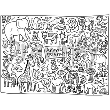Load image into Gallery viewer, DRAWNBY: Animal Friends Colouring Mat with Markers