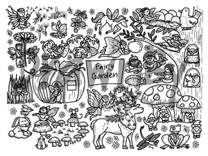 DRAWNBY: Fairy Garden Colouring Mat with Markers