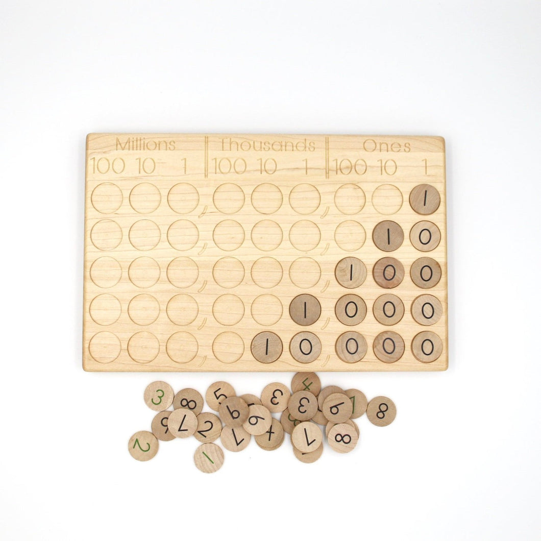 TREASURES FROM JENNIFER Place Value Board & Decimal Board Set