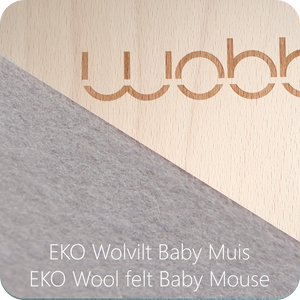 WOBBEL Original with Felt Baby Mouse