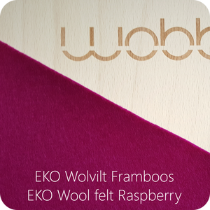 WOBBEL Original with Felt Raspberry