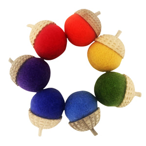 PAPOOSE TOYS Rainbow Acorns Set of 7