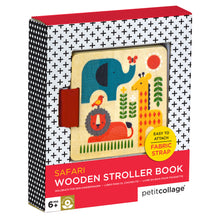 Load image into Gallery viewer, PETIT COLLAGE Safari Wood Stroller Book