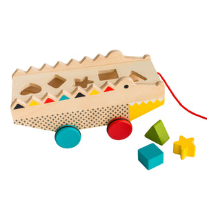 PETIT COLLAGE Alligator Wood Shape Sorter & Pull Toy