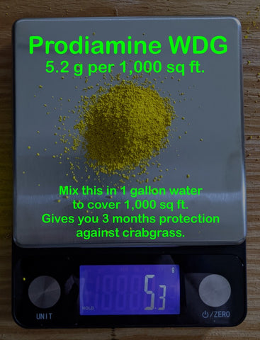 how much prodiamine wdg