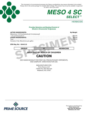 Mesotrione MESO 4SC Select (brand alternative - Tenacity®)