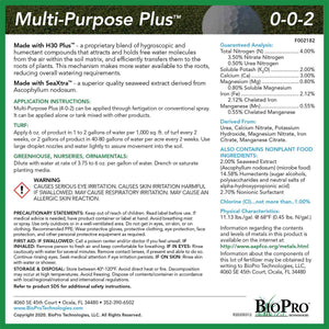 Multi Purpose Plus (4-0-2) plus Iron and Bio-Stimulants