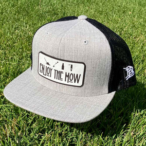 Enjoy The Mow - Flat Bill SnapBack Hat