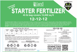12-12-12 Starter Fertilizer (with 3% Iron) and Bio-Nite™ - Granular Lawn Fertilizer