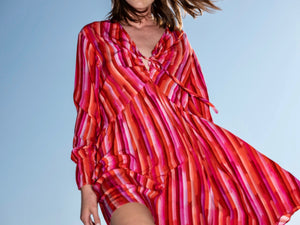 Print Ruffled Dress - More colors available