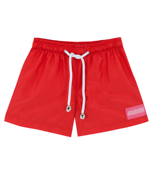 Red Mini Boys Swimsuit
