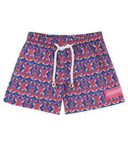 Geo Pink Mini Boys Swimsuit