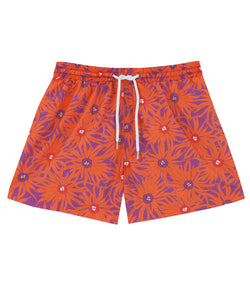 Men's Swim Shorts | Floral Orange