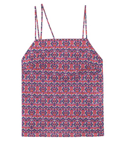 Print Slip Top | Geo Purple