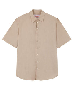 Short-Sleeved Linen Shirt - More colors available