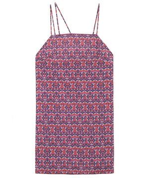 Print Slip Dress | Geo Purple
