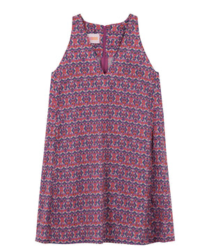 V-Neck Print Cotton Dress