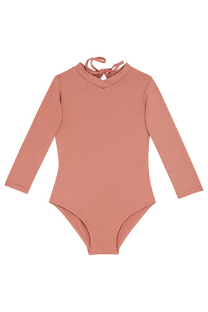 Kids Kelia Long-Sleeve Onepiece | Dusted Pink