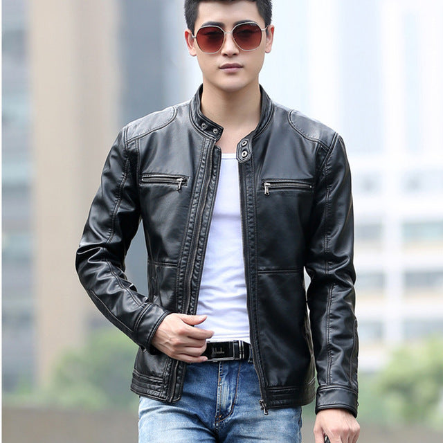 2018-Men-Leather-Jackets-Spring-Autumn