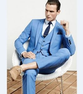 2018 Blue Men Wedding suits