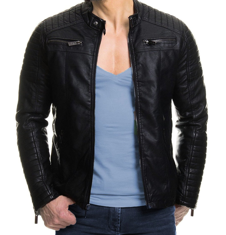 2018 Classic-Leather-Motorcycle-Jacket