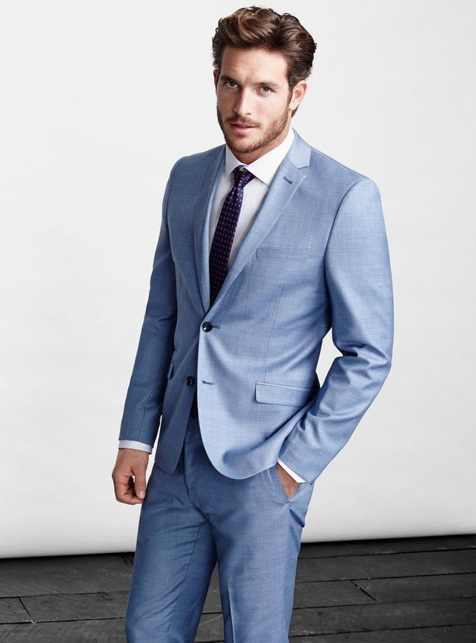 2018 Light Blue Suit for men