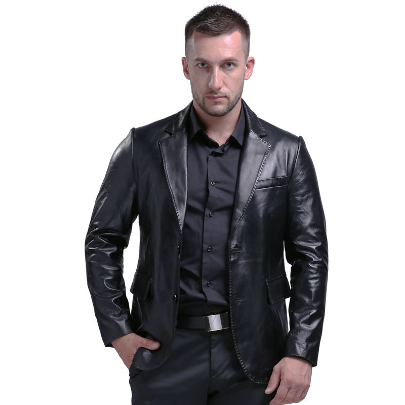 2018 Men's Genuine Leather Jacket