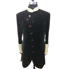 Admirable black sherwani for men