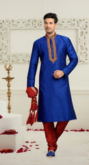 Amazing Blue & Red Sherwani For Men