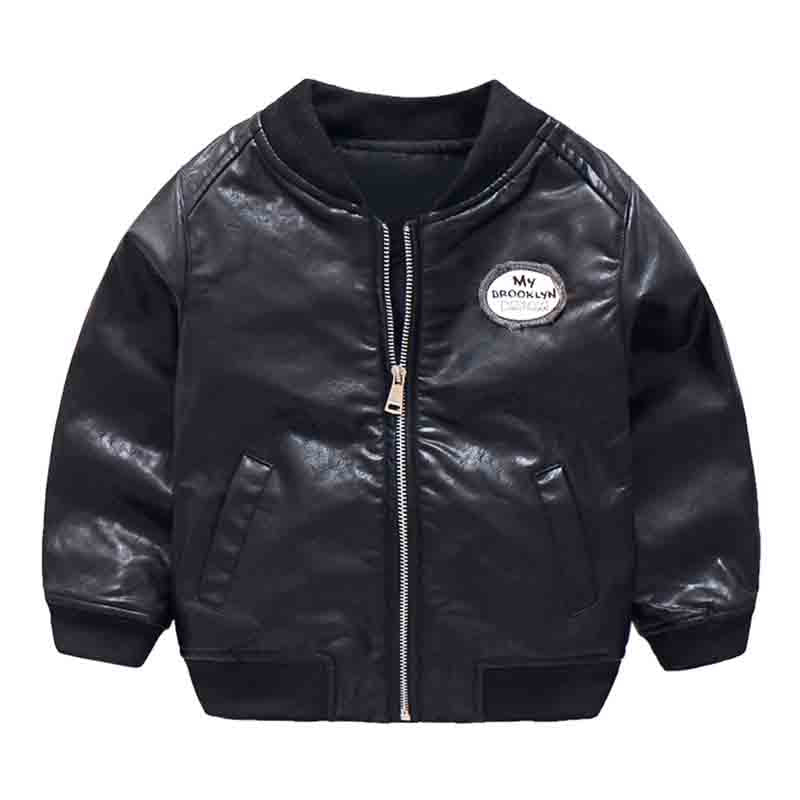 Amazing Black Leather Jacket For Kids