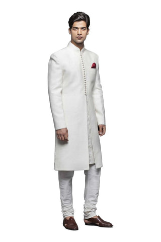 A Cool White Sherwani For Men