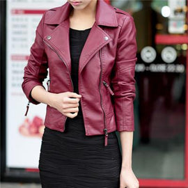 Amazing classy leather jacket for women