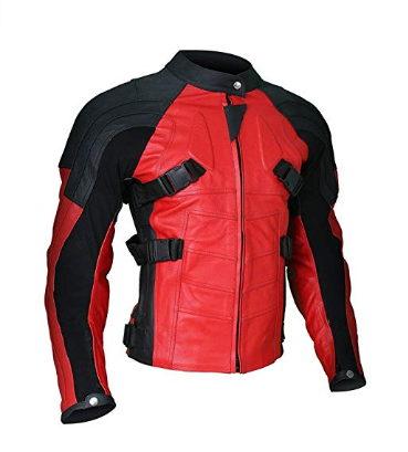 Armored Style Deadpool Bikers Leather Jacket