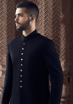 Astonishing Black  Sherwani for Men