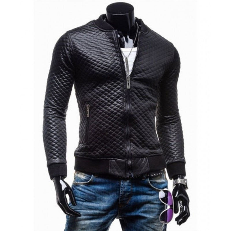Astonishing  Fit Black Leather Motorcycle Jacket Men For Sale