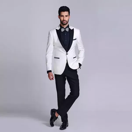 Attractive white suit for men