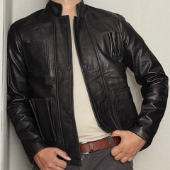 Awesome Black Film Leather Jacket