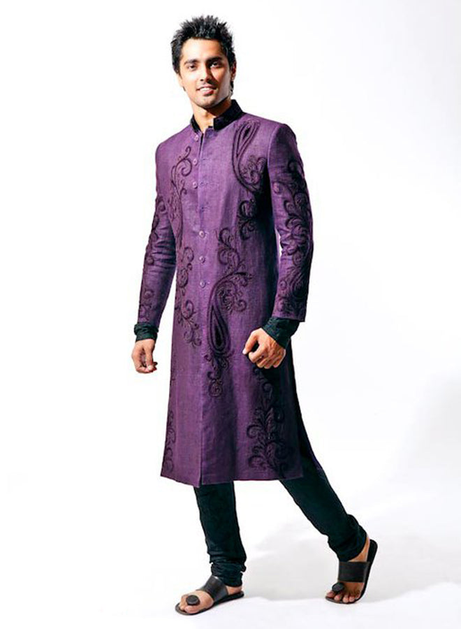 Awesome Violet Sherwani For Men