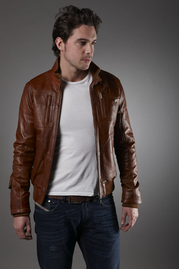 Be Fashionable In Winter -Leather Jacket