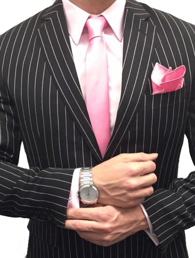 Beautiful  Black Pinstripe Suit --