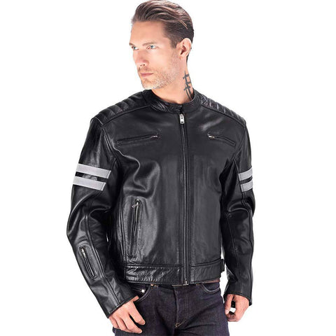 Comfortable  Leather Motorcycle Jacket for Men
