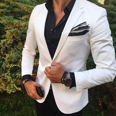 Smart Beautiful white suit for men