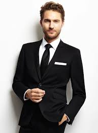 Smart  Black Suit For Men